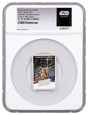 2017 Star Wars Posters Empire Strikes Back 1oz Silver $2 NGC PF70 UC ER SKU48943
