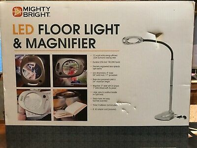 Mighty Bright 67112 Floor Light and Magnifier, Silver