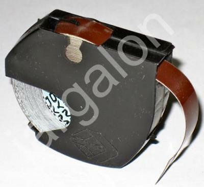 """DYMO embossing Tape 5201-08 Glossy Brown 3/8"""" x 12 Ft NEW Label Labeling"""