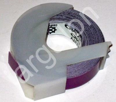 """DYMO embossing Tape 5201-15 Glossy Purple 3/8"""" x 12 Ft NEW Label Labeling"""