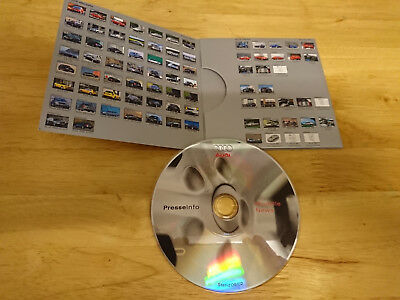 2002 Audi Paris Motor Show Press Kit inc. A2, A3, TT, A4, A6, S3, S6, RS 6