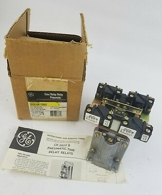 GE Time Delay Relay CR2820B115AA2 115V Coil 60Hz