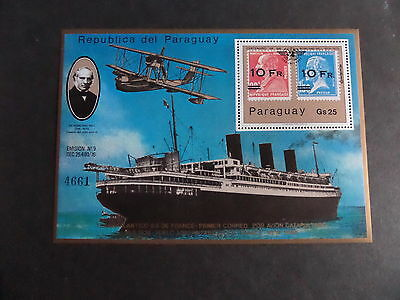 Paraguay 1979 Death Centenary Rowland Hill MS Ship boat MNH UM Unmounted mint