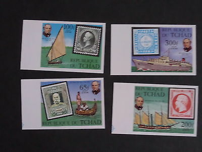 Chad 1979 Death Cent Rowland Hill SG578/81 ship IMPERF MNH UM unmounted mint