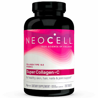NeoCell Super Collagen and Vitamin + C  Type 1 & 3 6,000 Tablets mg 250 Tablets