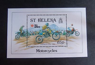 St Helena 1991 Phila Nippon 91 motorcycle bike MS602  MNH UM unmounted mint