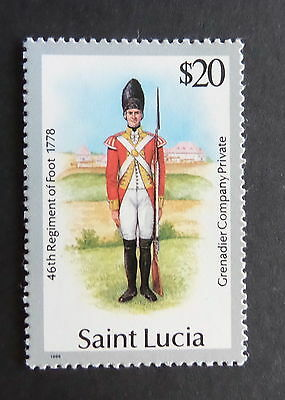St Lucia 1985 Military Uniforms $20 SG946 MNH UM unmounted mint never hinged