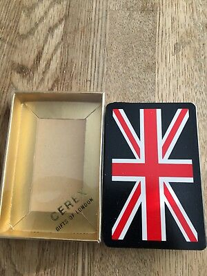 Cerex London Black Union Jack Playing Cards Complete W/1 Joker