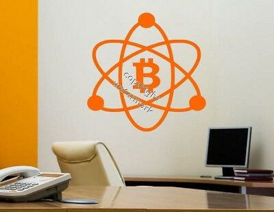 Bitcoin Logo Atom Crypto Wall Sticker Car Laptop Decal High Quality Many Colours