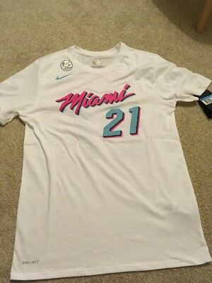 3cc3b528b Hassan Whiteside Miami Heat Vice City Edition Nike Dri Fit Jersey T-shirt  NBA M