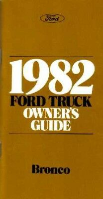 1978 Ford Bronco Owners Manual User Guide Reference Operator Book Fuses Fluids