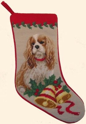 Cavalier King Charles Needlepoint Christmas Stocking