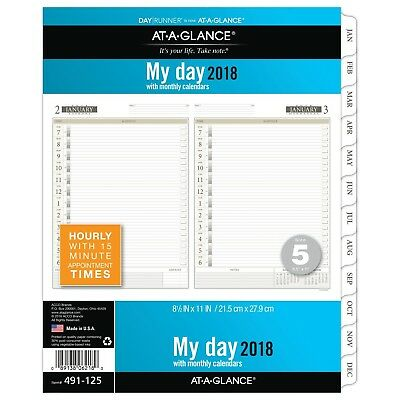 AT-A-GLANCE Day Runner Daily Planner Refill, One Page Per Day, January 2018 -...