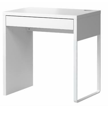 Desk Computer Wooden Table Workstation White Office Home Micke Student