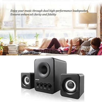 Multimedia Stereo Speaker Computer PC Laptop Speakers Subwoofer Bass Sound Box
