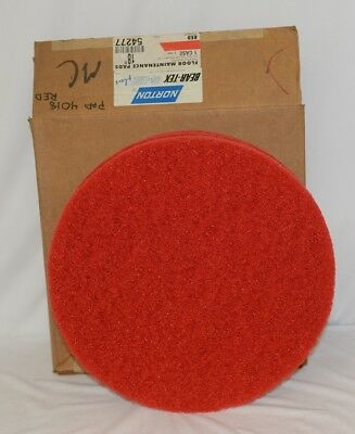 Norton 54277 Red 18 Inch Floor Maintenance Pads 5 pack Spray Buffing