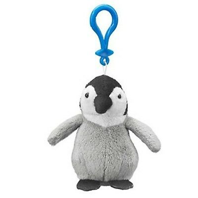 Emperor Penguin Chick Plush Penguin Stuffed Animal Backpack Clip Toy Keychain...