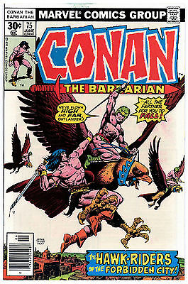 CONAN THE BARBARIAN 75 VF BELIT APPEARANCE ERNIE CHAN COVER 1977 Marvel