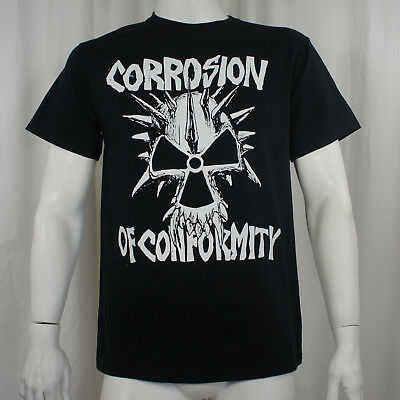 Authentic CORROSION OF CONFORMITY Old School Logo Spiked Skull T-Shirt S-3XL NEW