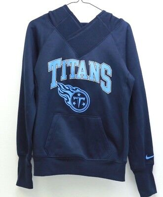 3c4b7e43540c Women s NIKE Dri Fit NFL Tennessee Titans Pullover Hoodie  536696 Size Small