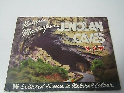Picture Postcard Booklet Jenolan Caves, NSW Australia