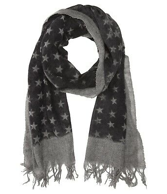 d6591f740f4 John Varvatos Star USA Men s Border Stars Cashmere Shadow Scarf  158 msrp  NWT