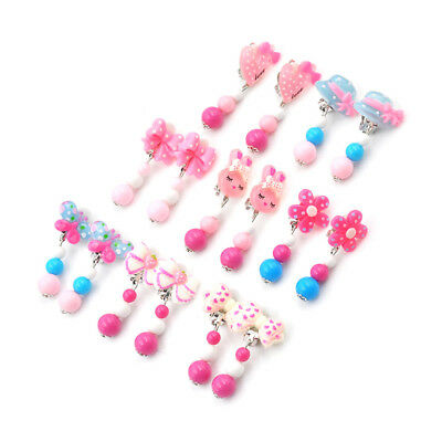 Fashion Lovely Clip-On No Pierced Earrings For Kids Children Girls Birthday FT
