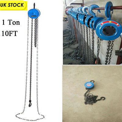 1 Ton Chain Puller Block Fall Chain Lift Hoist Hand Tools Chain With Hook New