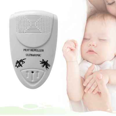White Electronic Ultrasonic Anti Mosquito Insect Pest Mouse Repellent Repeller