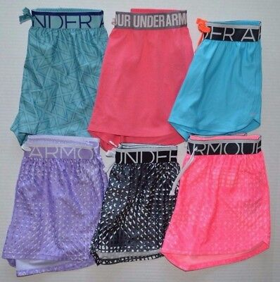 Girl's Youth Under Armour Heat Gear Loose Fit Polyester Shorts