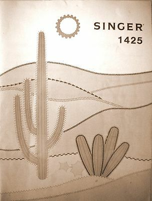 Instruction Book for the SINGER Sewing machine Model 1425 (1980) - VGC