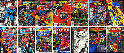 CRISIS ON INFINITE EARTHS 14-ISSUE CROSSOVER LOT Superman JLA Green Lantern DC