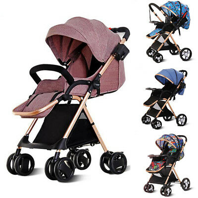 Two-way High-view Waterproof Pushchair Baby Stroller Travel Syst Infant Carriage