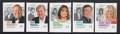 AUSTRALIA 2018 - Aussie LEGENDS of TV Entertainment P&S set of 5 x $1 MNH