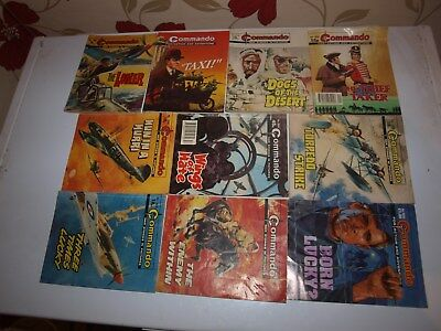 10 Old Commando and battle picture library War books Retro Collectable 14