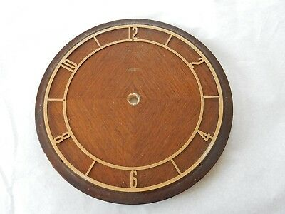 smiths art deco clock face  quarter veneer ANTIQUE  DIAMETER 195  mm