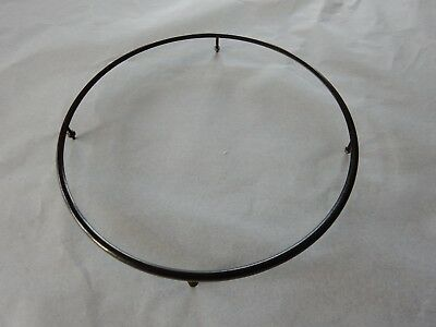 art deco CIRCULAR THIN LINE MOUNT  GLASS PLAQUE EMBROIDERY FRAMING 173MM DIAM