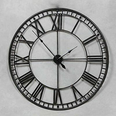 Stunning Extra Large 80cm Metal Wall Clock Skeleton Wall Clock