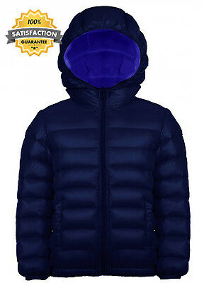 OUO Boys Girls Unisex Kids Down Coat Warm Puffer Jacket With Hood