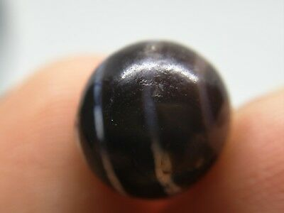 200 BC ancient Pyu etched universe totem agate bead #179706