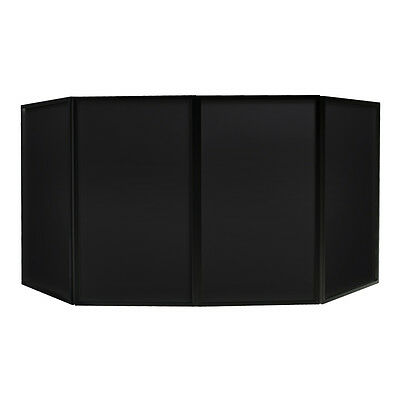 Equinox Foldable DJ Mobile Disco Booth Stand Lycra Screen with Carry Bag Party