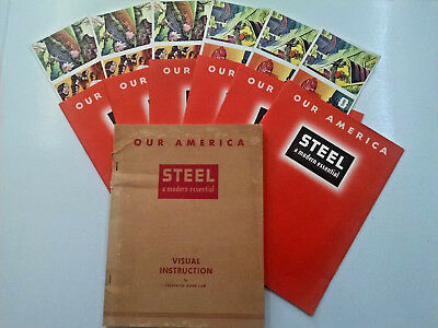 6 lot Steel industry-C.1942 COCA-COLA booklets w/original stamps & Visual book!
