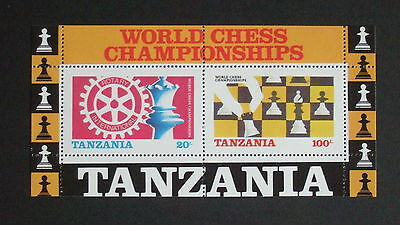 Tanzania 1986 World Chess Championships MS463 MNH UM unmounted mint Rotary Int x