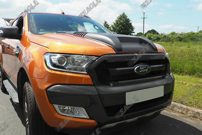 Ford Ranger Wildtrak Raptor Style Bonnet Scoop Black