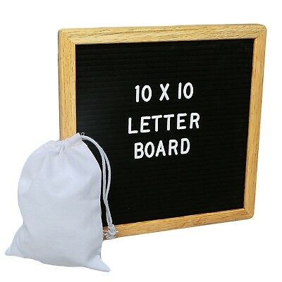 Changeable Felt Letter Board 10x10 inches 290 characters Message Sign Board