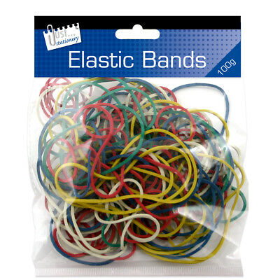 200PCS  Strong Elastic Rubber Bands for Home, School and Office 100g NEW, SEALED
