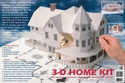 Design Works 3 D Home Kit Construct A Paper Model Of Your Home 1/