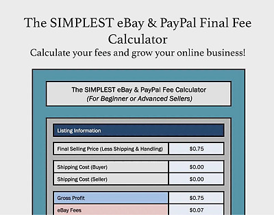 The Simplest Ebay Paypal Final Fee Calculator Ing Microsoft Excel Free