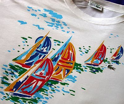T-SHIRT vintage 80's  LACOSTE  TG.6 circa XL  made in France