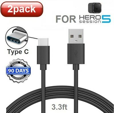 2-pack For GoPro Hero 5,6,7,8 Session 5 Camera USB Data Sync Power Charger Cable